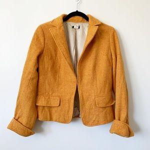 J.Crew Donegal tweed Ecole blazer yellow